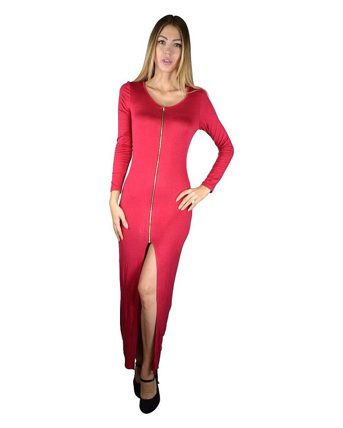 Full Sleeves Front Slit Maxi Dress Is Just $9.99 #affordable plus size clothing, #buy cheap clothes online, #buy clothes online, #buy clothes online, #cheapclothes, #cheap clothes for women, #cheap clothes online, #cheap clothing, #cheap clothing online, #cheap clothing sites, #cheap clothing stores, #cheap clothing stores online, #cheap clothing websites, #cheap fashion clothes, #cheap fashionable clothes, #cheap junior clothing, #cheap online clothing stores, #cheap online shopping, #cheap