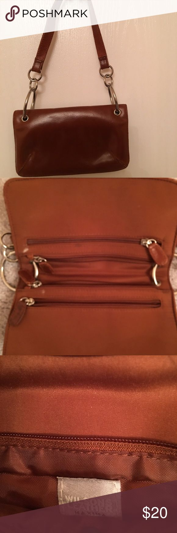 WILSON LEATHER MINI OVER THE SHOULDER PURSE WILSON LEATHER OVER THE SHOULDER MINI PURSE WALLET WILSON LEATHER Bags Mini Bags