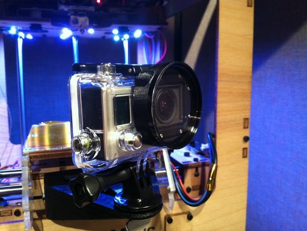 GoPro Housing 52mm Filter Adapter by g30ff4y  http://thingiverse.com/thing:198407