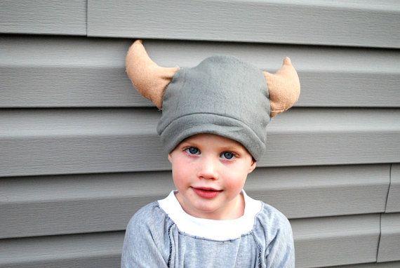 Fleece Viking Hat by BeatnikKids on Etsy