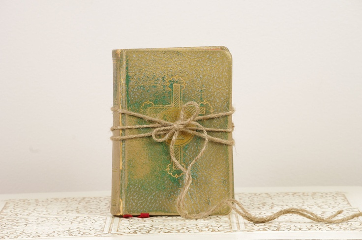 Vintage Catholic Missal - Ring Bearer Alternative. $18.00, via Etsy.