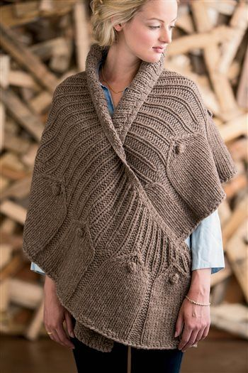 Oversized Crescent Shawl from Knit.Purl. So cozy.
