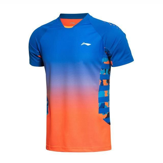 Li-Ning Men's Badminton Series Quick Dry Breathable Flexible T-Shirts LiNing T Shirt Sports Training