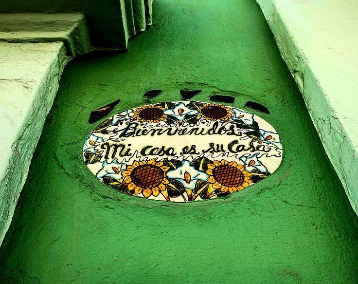 I wish this was mi casa. Green galore and the quaint ceramics. #👑🛳📷