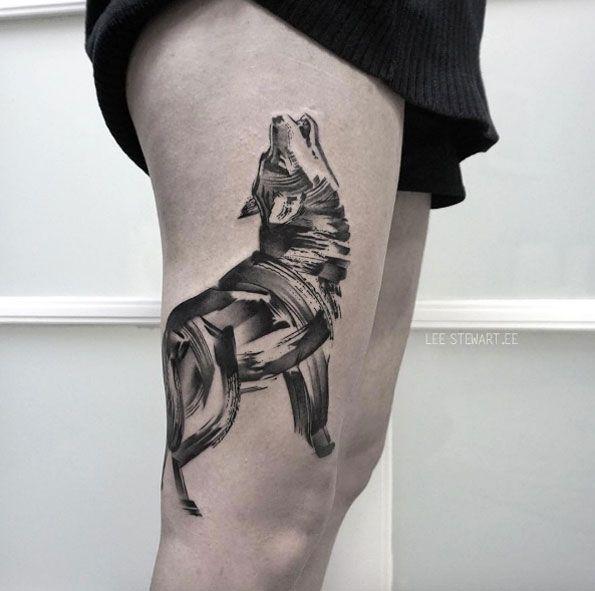 Howling wolf by Lee Stewart