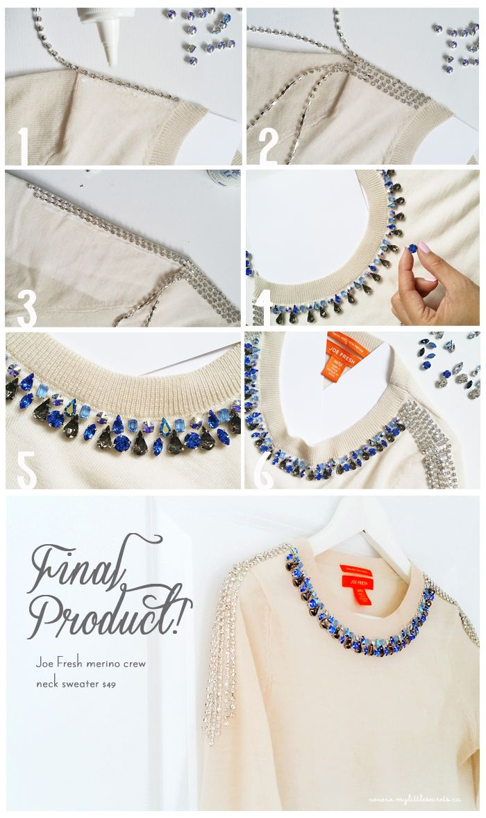 DIY Jeweled Sweater