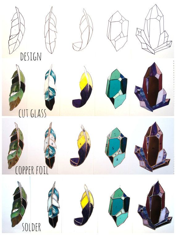 Crystal Stained Glass Sun Catcher An Original Design in