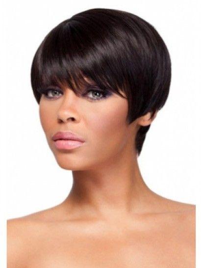 Perruque afro-américaine courte cheveux naturels de lisse - Photo 1