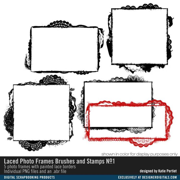 Laced Photo Frames Brushes and Stamps No. 01- Katie Pertiet Brushes- DS197427- DesignerDigitals