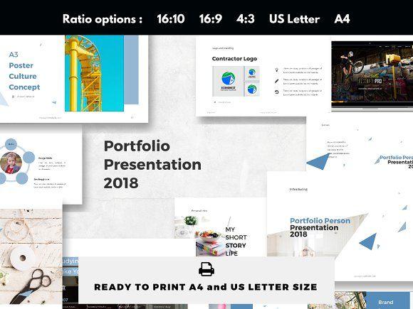 Personal Portfolio Presentation 2018 by rivatxfz on @creativemarket