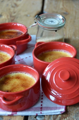 Wildly Delicious Recipe: Cinnamon Creme Brulee Serves: 4 Prep Time: 20 minutes Cook Time: 1 hour  Ingredients:  2 cups heavy cream 5 egg yolks 1/2 cup sugar 1 tablespoon vanilla extract 1/2 cup Koringe Cinnamon Organic Sugar   http://www.wildlydelicious.com/recipes/cinnamon-creme-brulee
