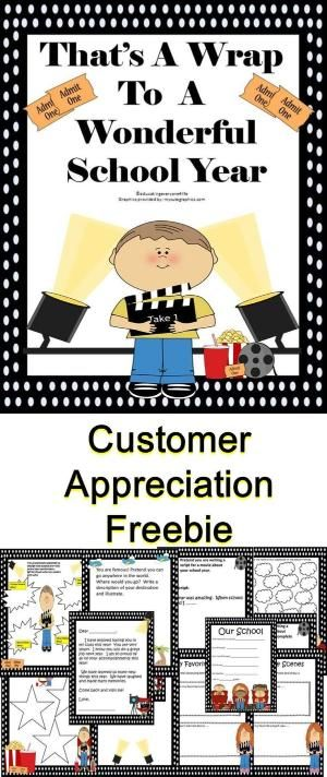 End of Year Customer Appreciation Freebie - I have created this End of Year Hollywood Activity Book as a gift to teachers and to thank everyone for helping my store become so successful! I hope you all have a wonderful summer!  #teachers by eddie