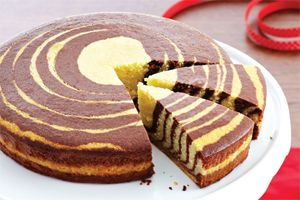 Zebra Cake- Let your kids earn their stripes in the kitchen. They'll have lots of fun making this delicious and creative cake together.