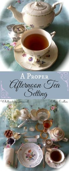 Pinner wrote: A Proper Afternoon Individual Tea Setting | whatscookingamerica.net | #afternoon #tea #etiquette
