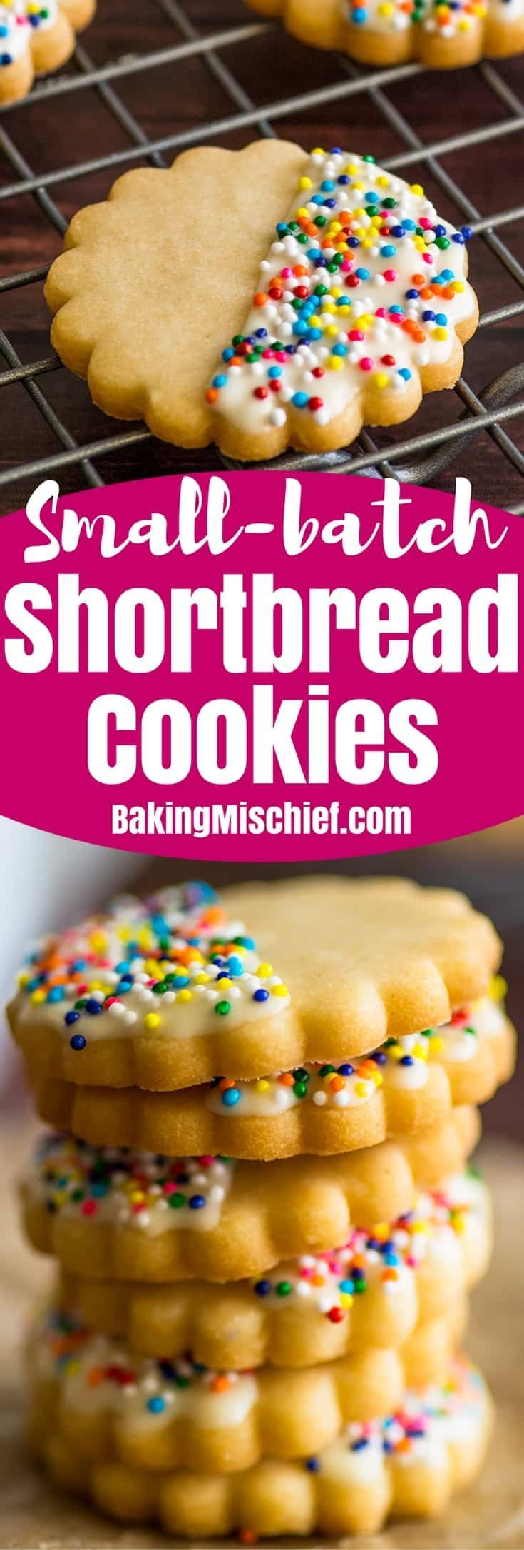 These Small-batch Shortbread Cookies are buttery, crumbly, and perfect when paired with a cup of hot tea or coffee.  | #cookies | #smallbatch | #smallbatchdessert | #shortbread | #dessert |
