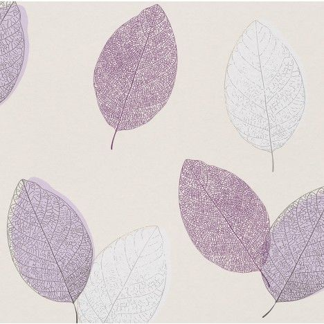 Rasch Sensual Eco Plum Nature Leaf 398809 wallpaper