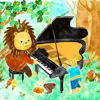 【mayukom46】さんのInstagramをピンしています。 《「ピアノの練習」 昨日に引き続き前回の個展のイラストを紹介します。毎日紹介していけたら良いなと思っています。 #動物 #ライオン #アリクイ #ピアノ #音楽 #ピアノの練習 #自然 #森 #子ども #ピアノの先生 #イラスト #水彩 #カラーインク #animal #lion #ant_eater #piano #music #pianopractice #nature #forest #child #pianoteacher #illustration #artwork #painting #watercolor》
