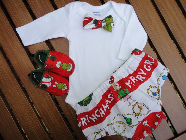 Dr. Seuss Merry Grinchmas Christmas Boutique Bow Tie 4 Piece Outfit Christmas Grinch Baby Boy Bow Tie Outfit The Grinch Christmas Outfit by doodlesbabylicious on Etsy https://www.etsy.com/listing/211338144/dr-seuss-merry-grinchmas-christmas