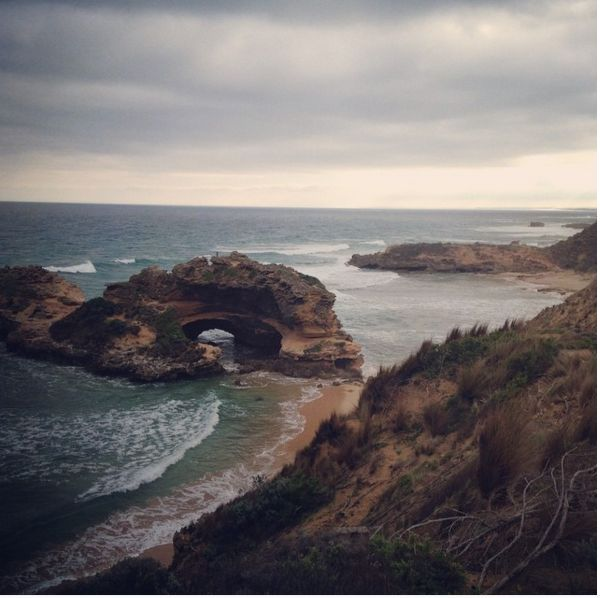 Water... The perfect view of London Bride, Mornington Peninsula, VIC... Right where @pickle_dj proposed . This is how we #WPNLiveIt #wpnactivewear #mornington #proposal