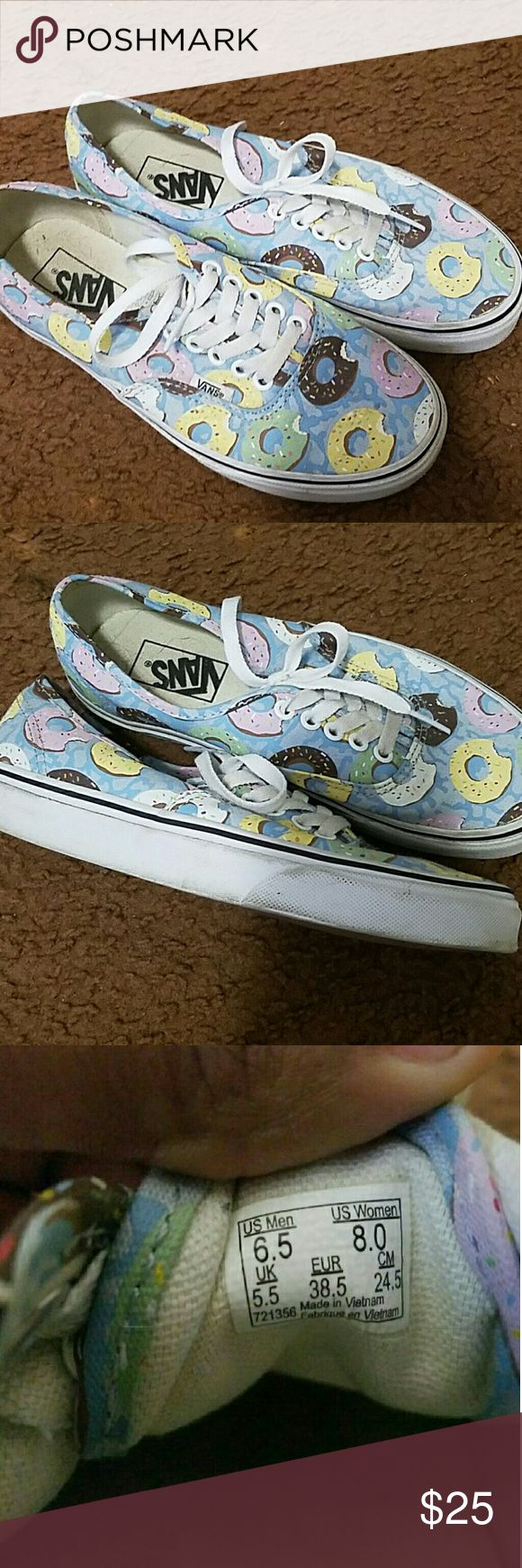 Vans Donut Shoes Also on Mercari @xoxochristine. Wore twice, like new with a few scuffs that I can clean for you Vans Shoes Sneakers