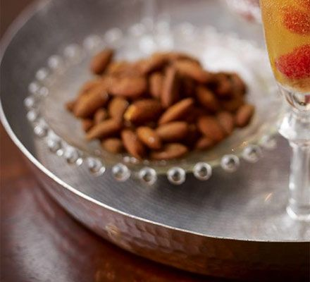 These nuts have a great kick of spice and can be whipped up quickly ahead of entertaining