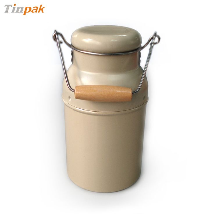 milk tin container with coin slot