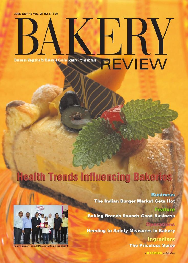 Bakery Review ( June-July 2015) Business Magazine for Bakery & Confectionery Professional  Here we have covered the different aspects of the growing trend towards healthy bakery products, which have been experienced in the Indian bakery industry for quite some years. The promising burger market in India is being explored through our Business Story. The potential of India's bread making industry, factors to take into account while undertaking bread production and its marketing, and the…