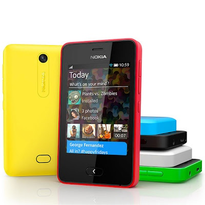 Nokia announces Asha 501 phone with 3-inch capacitive screen.