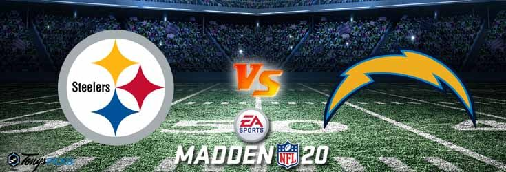 Pittsburgh Steelers Vs Los Angeles Chargers Nfl Madden 20 Sim 6 11 2020 Picks Predictions Previews In 2020 Chargers Nfl Nfl Los Angeles Chargers