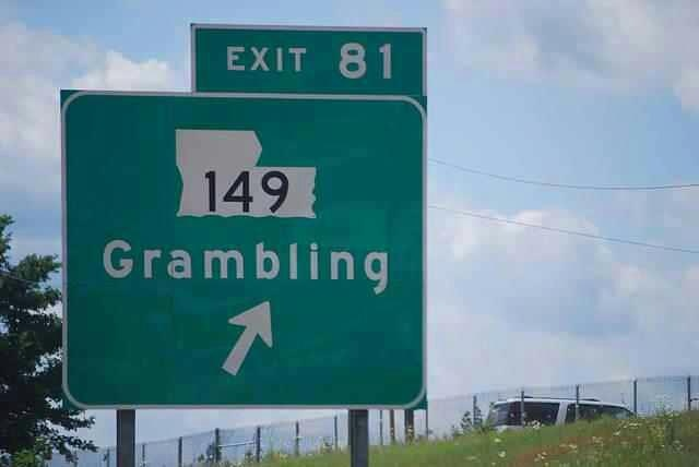 Grambling State University exit 81 off Hwy 20