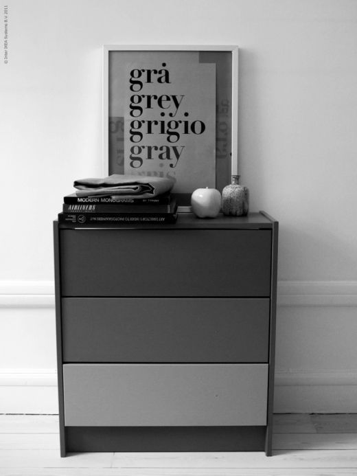 Ikea RAST chest hacked with three shades of gray #Ikeahacks #hacks #Ikea