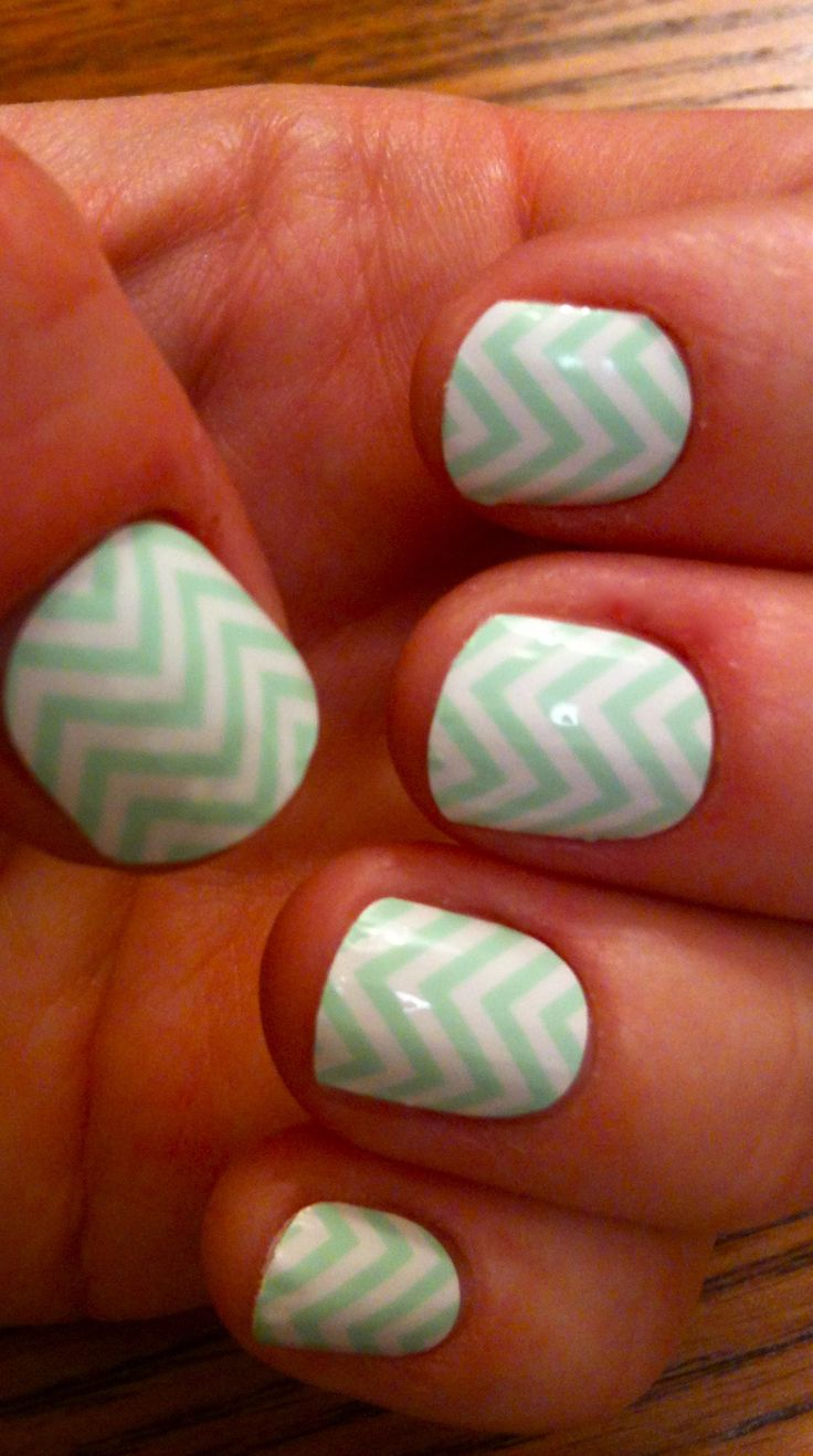 AnastasiaDesigns.JamberryNails.com Mint Green Cheveron Jamberry Nail Sields. Lasts 2 weeks without chipping. Check out the over 160 colors and designs to choose from, french tips, junior sizes, metalics, sparkles, holiday, and much more. fast, easy, fun, and affordable to DIY