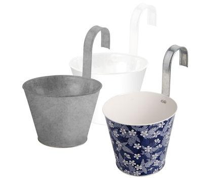 balcony flower pots.  Secret sister mailboxes???