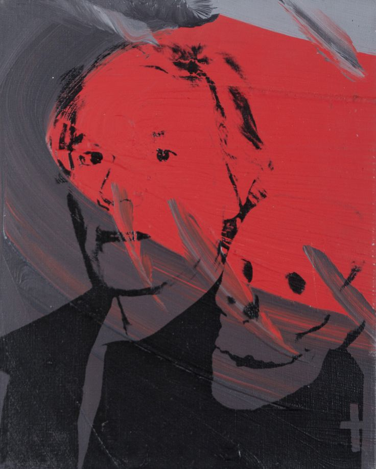 """Andy Warhol (American, 1928 – 1987) / """"Self Portrait with Skull,"""" 1978 / Silkscreen ink on synthetic polymer paint on canvas / Des Moines Art Center Permanent Collections; Gift of Roy Halston Frowick, New York, 1986.33 / Photo Credit: Rich Sanders, Des Moines"""