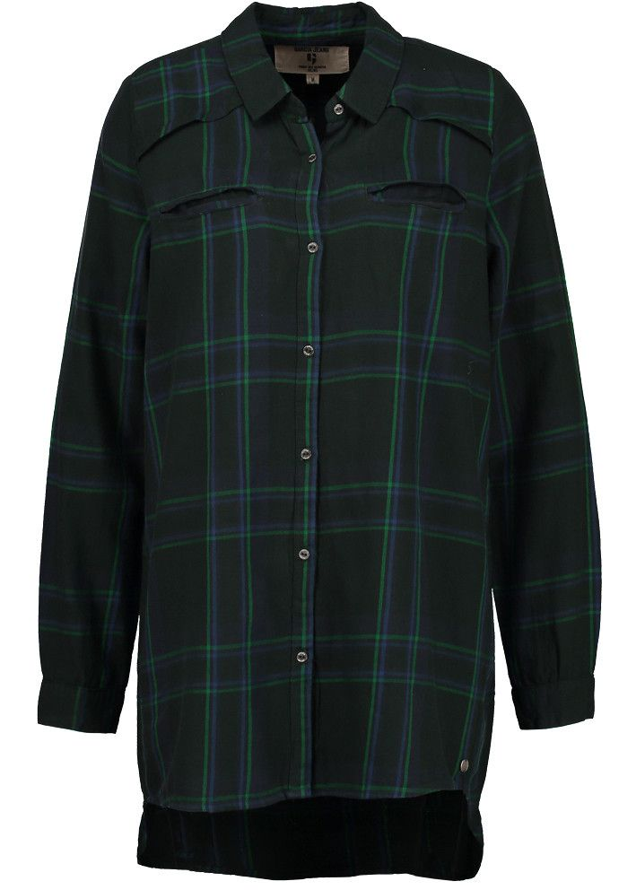 Garcia Storskjorte ternet grøn U60039 Ladies Shirt - empire green – Acorns