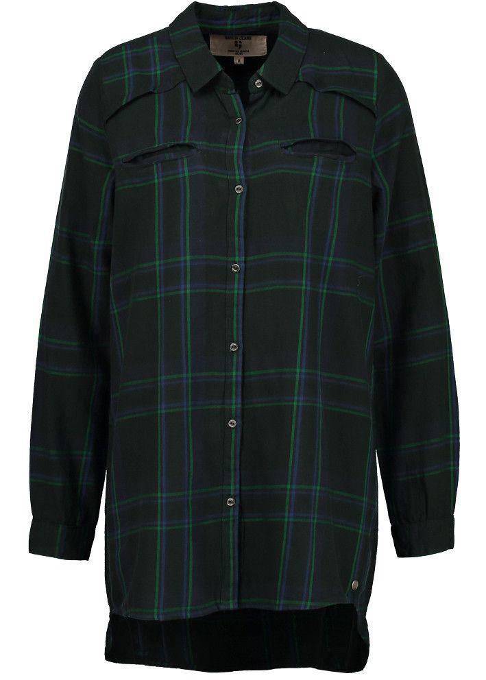 Garcia Storskjorte ternet grøn U60039 Ladies Shirt - empire green – Acorns