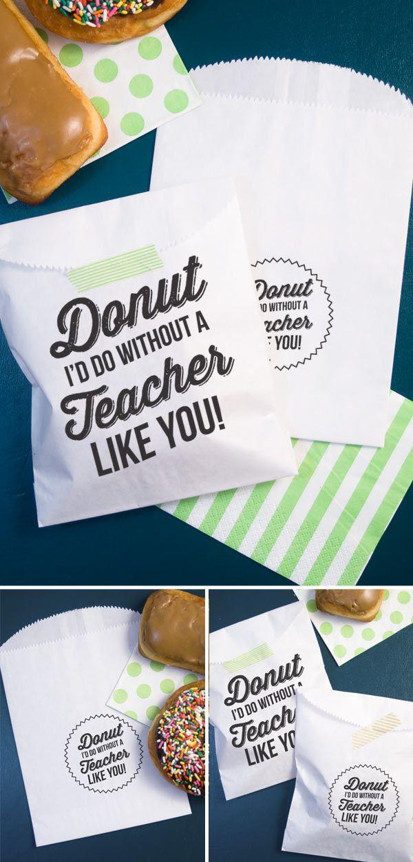 Donut Id do without a Teacher like you! : Free printable