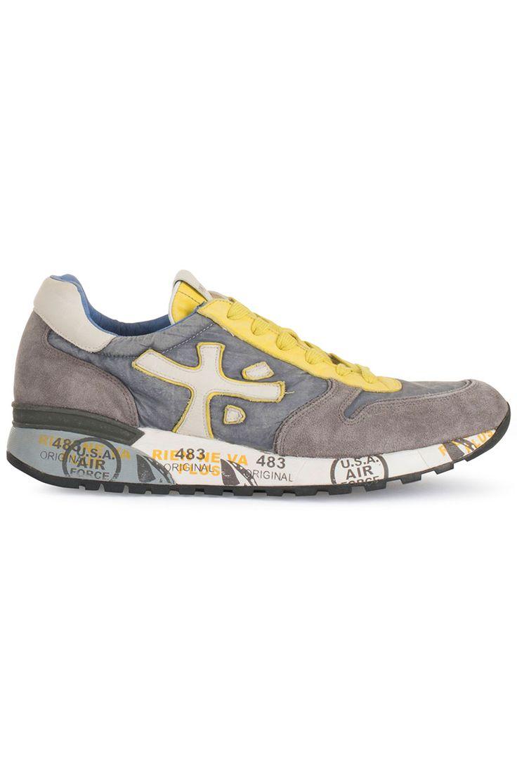 Musthave Premiata MICK (grijs) Heren sneakers van het merk premiata . Uitgevoerd in grijs.