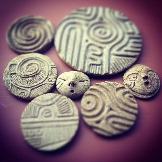 縄文土器円盤 #jomon