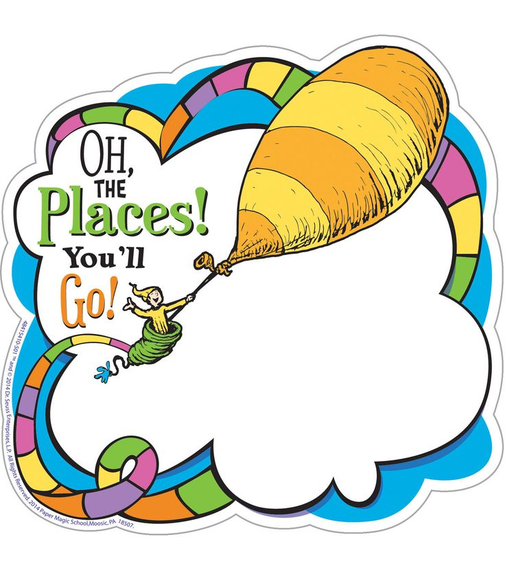 Dr. Seuss Oh the Places, 36 pieces / pack, set of 6