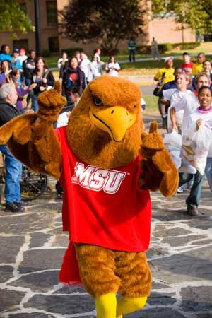 Rocky the Red Hawk, Montclair State University