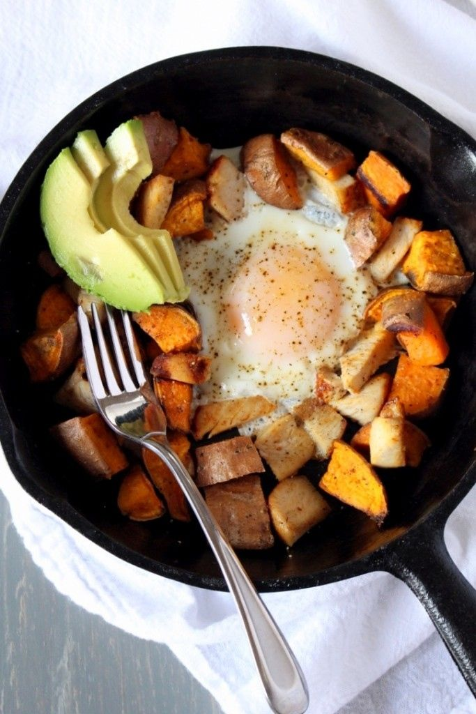 Sweet Potato Breakfast Skillet (For 1) #healthy #whole30 #recipes http://greatist.com/eat/whole30-recipes-for-one