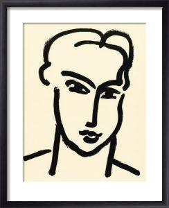 Henri Matisse De l'art encadré Femme IV (Grande tête d.Katia)