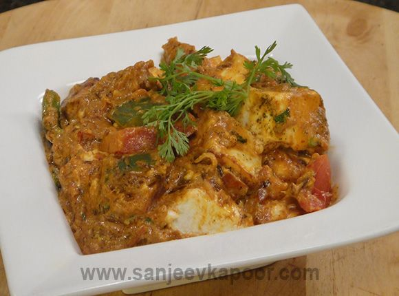 Paneer Tikka Masala - Soft chunks of grilled paneer and capsicum in a mildly spicy onion tomato masala.