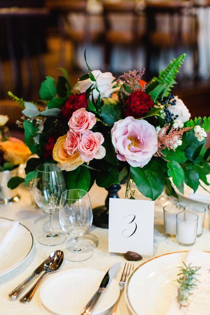 Tuscan in Tremblant — Full Bloom - centrepiece - roses - merlot - garden roses