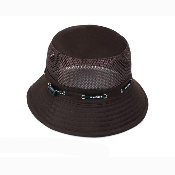 2017 New Fishing Caps Sun Hat Cotton Mesh hats Fisherman Bucket Hats Large Brim Chapeau Summer caps Boonie Hunting hats
