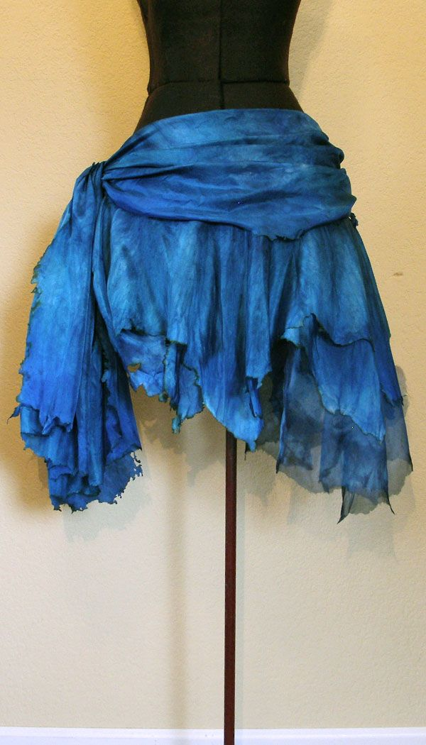 Water Fairy skirt idea. Bet you could get a couple of scarfs and drape/tie them and jag the edges to get this effect.