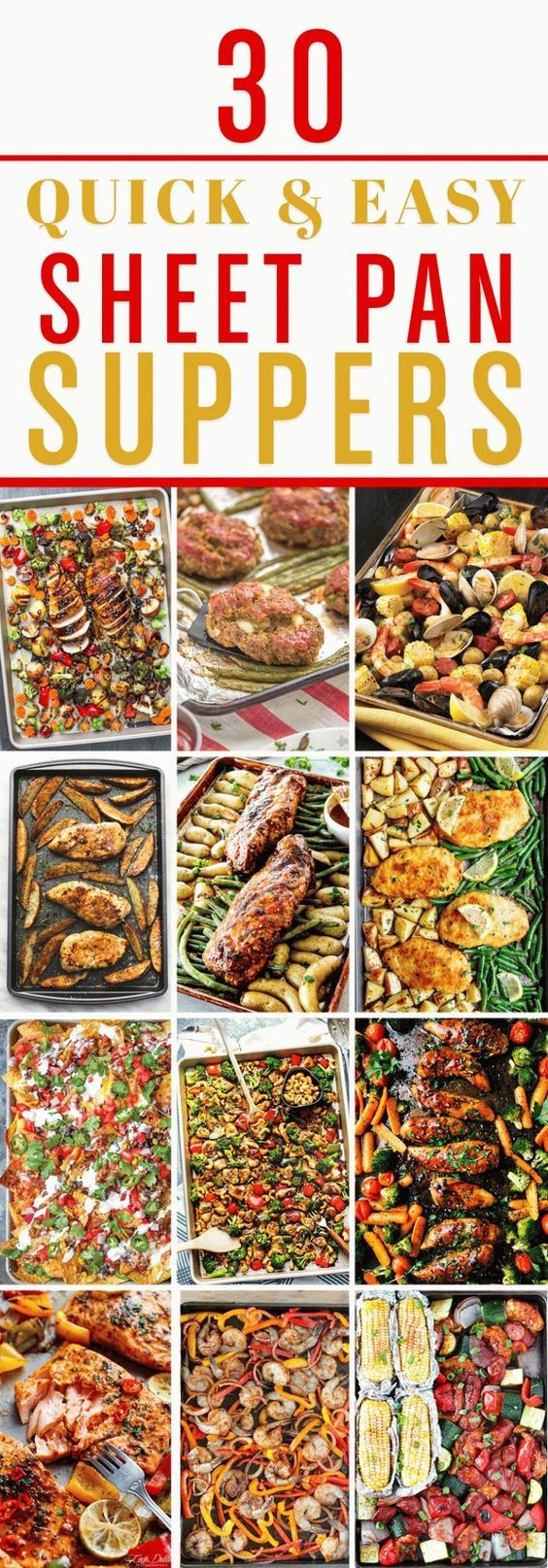 These sheet pan dinners are your answer to quick, easy, and healthy meals for your family!