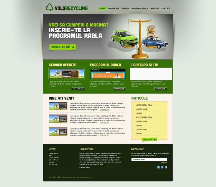 web design site prezentare pentru programul Rabla
