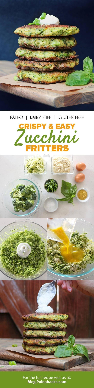 Crispy & Easy Zucchini Fritters   #justeatrealfood #paleohacks